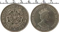Изображение Монеты Тристан-да-Кунья 50 пенсов 1987 Медно-никель Proof-