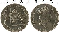 Изображение Монеты Новая Зеландия 5 долларов 1991 Медно-никель UNC- Елизавета II.  Кубок