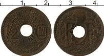 Изображение Монеты Индокитай 1/2 цента 1936 Медь XF