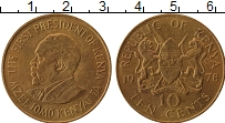 Изображение Монеты Кения 10 центов 1978 Латунь XF Мзее Йомо Кеньятта