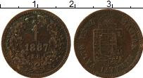 Изображение Монеты Венгрия 1 крейцер 1887 Бронза VF