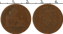 Изображение Монеты Бельгия 2 сантима 1864 Бронза VF