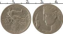 Изображение Монеты Италия 20 сентесим 1908 Медно-никель VF