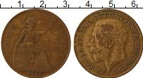 Изображение Монеты Великобритания 1 пенни 1919 Бронза VF Георг V