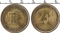 Изображение Монеты Италия 2 евро 2016 Биметалл UNC- Донателло