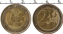 Изображение Мелочь Бельгия 2 евро 2012 Биметалл UNC 75 лет Конкурсу имен