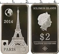 Изображение Монеты Соломоновы острова 2 доллара 2014 Серебро Proof- Париж