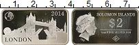 Изображение Монеты Соломоновы острова 2 доллара 2014 Серебро Proof- Лондон