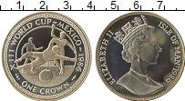 Изображение Монеты Остров Мэн 1 крона 1986 Серебро Proof- Чемпионат Мира по фу