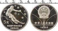 Изображение Монеты Китай 5 юаней 1988 Серебро Proof- Олимпийские игры, лы