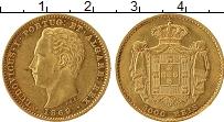 Изображение Монеты Европа Португалия 5000 рейс 1869 Золото XF-