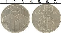 Изображение Монеты Португалия 250 эскудо 1976 Серебро XF Революция 25 апреля
