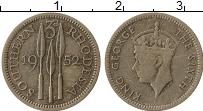 Изображение Монеты Родезия 3 пенса 1952 Медно-никель VF