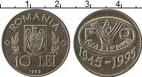 Изображение Монеты Румыния 10 лей 1995 Медно-никель XF