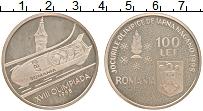 Изображение Монеты Румыния 100 лей 1998 Серебро Proof-