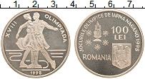 Изображение Монеты Румыния 100 лей 1998 Серебро Proof- Олимпиада 98