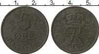 Изображение Монеты Дания 5 эре 1960 Цинк XF