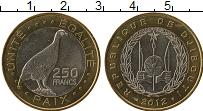 Изображение Монеты Джибути 250 франков 2012 Биметалл UNC-