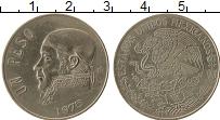 Изображение Монеты Мексика 1 песо 1975 Медно-никель XF