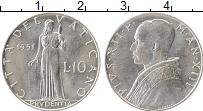 Изображение Монеты Ватикан 10 лир 1951 Алюминий UNC
