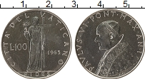 Изображение Монеты Ватикан 100 лир 1963 Медно-никель UNC