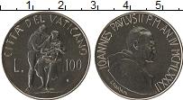Изображение Монеты Ватикан 100 лир 1982 Медно-никель UNC Иоанн Павел II