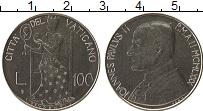 Изображение Монеты Ватикан 100 лир 1980 Медно-никель UNC Иоанн Павел II