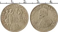 Изображение Монеты Ватикан 100 лир 1994 Медно-никель UNC-