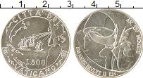 Изображение Монеты Ватикан 500 лир 1992 Серебро UNC Иоанн Павел II