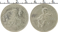 Изображение Монеты Ватикан 2000 лир 2000 Серебро UNC Иоанн Павел II