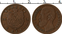 Изображение Монеты Румыния 2 бани 1879 Бронза XF- Кароль I