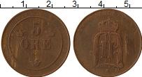 Изображение Монеты Швеция 5 эре 1899 Бронза VF Оскар II