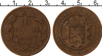 Изображение Монеты Люксембург 10 сантим 1865 Бронза VF