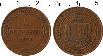 Изображение Монеты Италия Тоскана 5 сентесим 1859 Медь XF