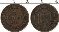 Изображение Монеты Тоскана 2 сентесимо 1859 Медь VF Виктор Эммануил