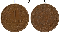 Изображение Монеты Нидерланды 1 цент 1957 Бронза XF