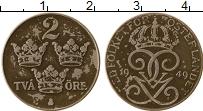 Изображение Монеты Швеция 2 эре 1949 Железо XF Густав V