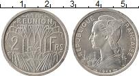Изображение Монеты Франция Реюньон 2 франка 1948 Алюминий XF