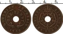 Изображение Монеты Родезия 1 пенни 1952 Бронза XF Георг VI