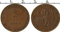 Продать Монеты Венеция 5 чентезимо 1849 Медь