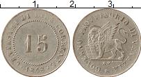 Изображение Монеты Италия Венеция 15 сентесим 1848 Серебро XF-