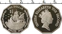 Продать Монеты Белиз 1 доллар 1990 Серебро