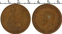 Изображение Монеты Великобритания 1 пенни 1928 Бронза VF Георг V