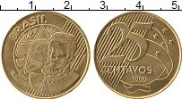 Изображение Монеты Бразилия 25 сентаво 2000 Латунь XF