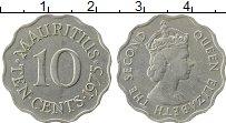 Изображение Монеты Маврикий 10 центов 1975 Медно-никель XF Елизавета II