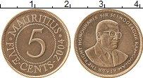 Изображение Монеты Маврикий 5 центов 2004 Бронза XF
