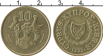 Изображение Монеты Кипр 10 центов 1993 Латунь UNC-