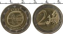 Изображение Монеты Ирландия 2 евро 2008 Биметалл UNC- 10  -  летие  хожден