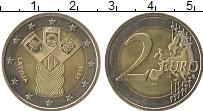 Продать Монеты Латвия 2 евро 2018 Биметалл