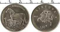 Изображение Монеты Литва 1 1/2 евро 2017 Медно-никель UNC- Лошадь,  собаки